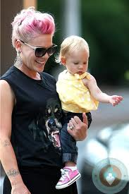 Pink and daughter she had after a miscarriage